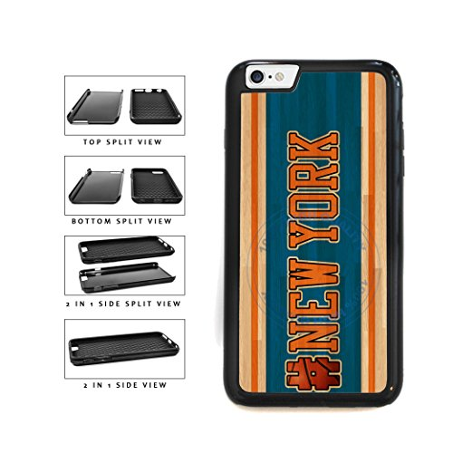 BleuReign(TM) Basketball Team Hashtag New York #NewYork 2-Piece Dual Layer Phone Case Back Cover For Apple iPhone 6 6s (4.7 Inches Screen)