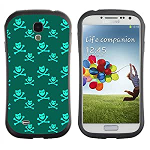 ArtSpace Premium Hybrid Back Case Cover Samsung Galaxy S4 IV i9500 ( Cool Skull )