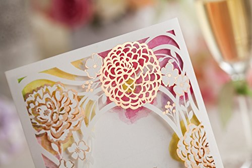 100x Wishmade CW065 Colorful Flower Wedding Invitations Cards DHL shipping by wishmade (Image #1)