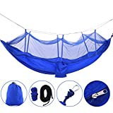 Portable Mosquito Net Hammock Lightweight Hanging Bed for Camping Backyard 2 Person