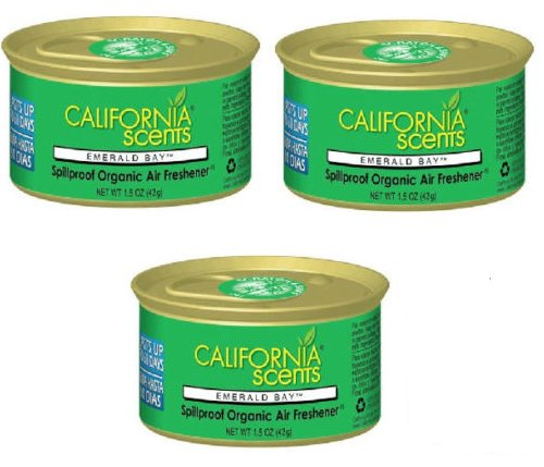 (California Scents Air Freshener NEW SCENTS!! SET OF 3 (EMERALD)
