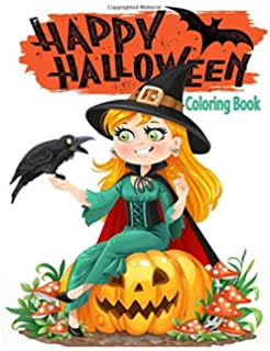 Happy Halloween Coloring Book: Halloween Coloring Book for Stress Relieve and Relaxation,Halloween Fantasy