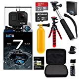 GoPro Hero7 Hero 7 Black Action Camera + GoPro Battery + Polaroid 8GB and 16GB SDHC Memory + Monopod + Flexi-Tripod + Float Handle + Hard Shell Case + Card Reader + Extras