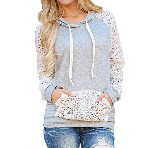 Hengzhi Womens Sleeve Hoodies Pocket