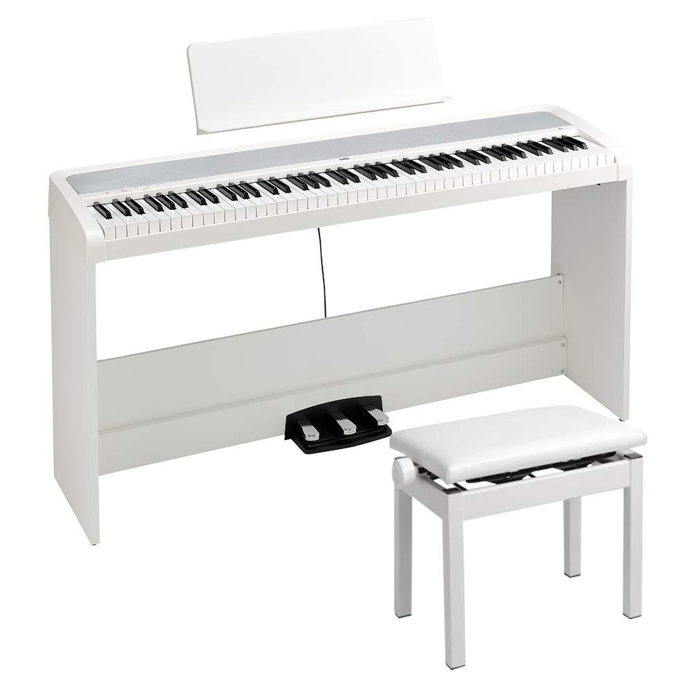 KORG B2SP WH ホワイト 電子ピアノ 88鍵盤 高低自在椅子セット コルグ   B07TBK94LQ