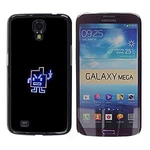 Caucho caso de Shell duro de la cubierta de accesorios de protección BY RAYDREAMMM - Samsung Galaxy Mega 6.3 - Dedo medio divertido