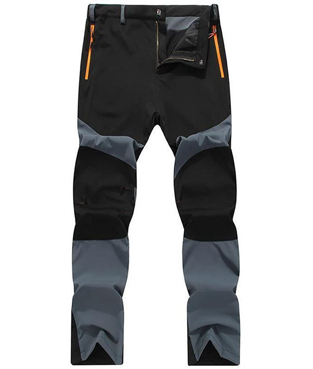 Men's Quick Dry Windproof Softshell Hiking Pants Trousers