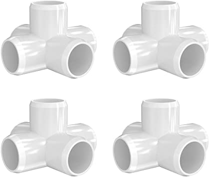 Letsfix 5 Way 3 4 Inch Pvc Fitting Pvc Elbow Fittings Pvc Pipe Connectors Build Heavy Duty Furniture Grade For 3 4 Inch Pvc Pipe White Pack Of 4 Amazon Com