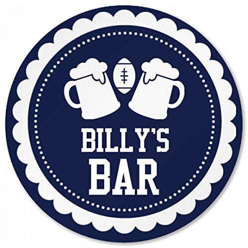 (Billy's Football Beer Bar Coaster: Round Plastic Coaster)