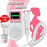Baby : Hear Your Baby's Heartbeat with Fetal Doppler Heart Rate Pocket Monitor Sound Amplifier for Home Use Prenatal Womb Probe Detector Pregnancy Gift For New Mom + European Cream For Pregnat Women + E-Book