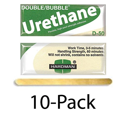 Hardman/Kalex #04022 - Double Bubble Urethane Adhesive Green/Beige-Label D50 High Shear Strength - 10-Pack by double bubble