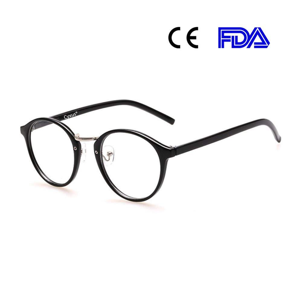 Cyxus filtro luce blu occhiali rétro tondo telaio [ceppo anti-occhio] Anti affaticamento della vista ottimo per computer / gioco / telefono (Classico nero) Cyxus Technology Group Ltd CYUK0063