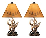 how to decorate foyer Ashley Furniture Signature Design - Derek Antler Table Lamps - Mountain Style Shades - Set of 2 - Natural Finish
