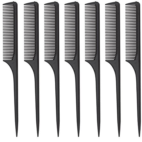 Diane Rat Tail Comb, Black, 9 Inch, 12 ()