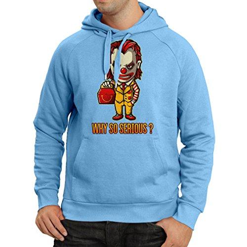 lepni.me N4443H Hoodie Why So Serious (Medium Blue Multi (Sandlot Halloween)