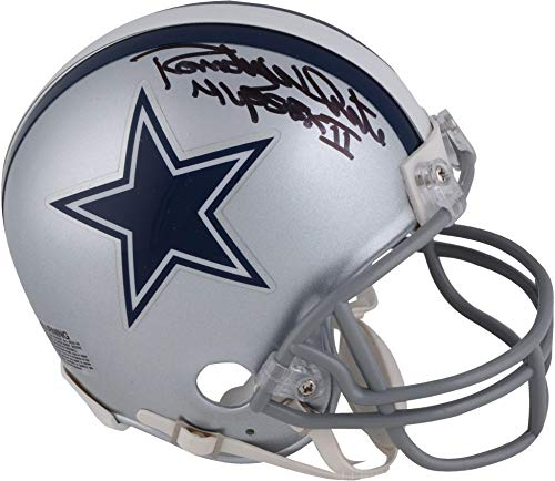 Randy White Dallas Cowboys Autographed Mini Helmet with SB XII MVP Inscription - Fanatics Authentic Certified Autographed Cowboys Mini Helmet