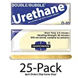 Hardman/Kalex #04023 - Double Bubble Urethane Adhesive Blue/Beige-Label D85 High Shear Strength - 25-Pack