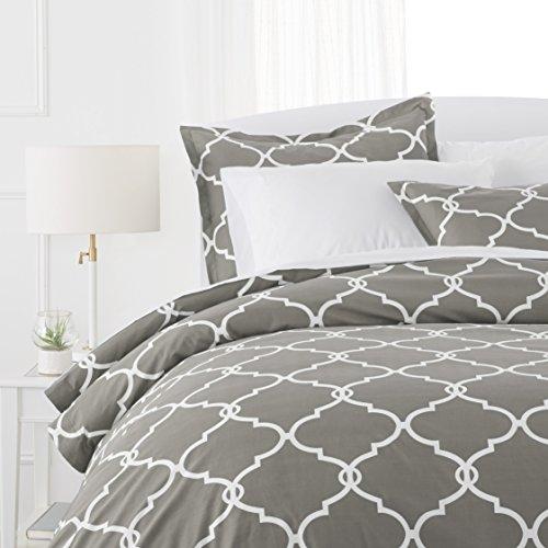 Pinzon 300 Thread Count 100% Cotton Percale Duvet Cover Set - Twin, Platinum