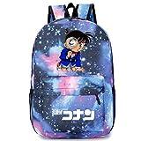 YOURNELO Boy's Girl's Cartoon Detective Conan Rucksack School Backpack Bookbag (Galaxy Blue 3)