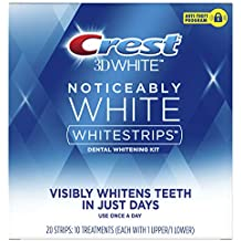 Crest Noticeably White Teeth Whitening Strips, Dental Whitening Kit, 10 Count (Pack of 8)