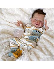 Reborn Babies Full Silicone Body, 18in Baby Doll Reborn - Look Real Baby Born, for 3-10 Children's Gifts