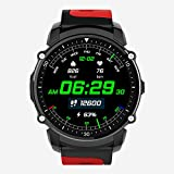 Lixada/ 1.26inch Transflective TFT Screen GPS Heart Rate Monitor Sport Watch Pedometer Compass Smart Watch IP68 Waterproof