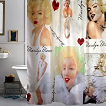 "Magic Boxs 70.86""*70.86"" Marilyn Monroe White Dress Printed Polyester Waterproof Shower Curtain"