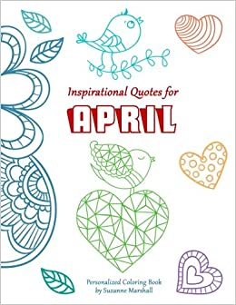 Inspirational Quotes For April Personalized Books Coloring Books