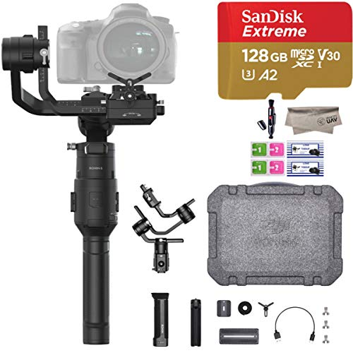2019 DJI Ronin-S Essentials Kit for Mirrorless and DSLR Cameras, Comes 128GB Micro SD, Tripod, Gimbal Hook and Loop Strap, 1 Year Limited Warranty, Black(CP.RN.00000033.01) (The Best Dslr Camera 2019)