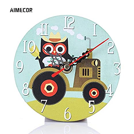 Amazon.com: Kamas Aimecor Cute Owl Series 11.5cm Wall Clocks Round Wall Watches relojes decoracion pared 1PC Digital Clock - (Color: A): Home Improvement