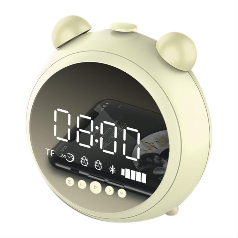 PMWLKJ Alarm Clock HD Mirror con Luz Nocturna FM Radio ...