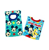 Disney Mickey Mouse Toddler Terry Cloth Bibs 2 Pack
