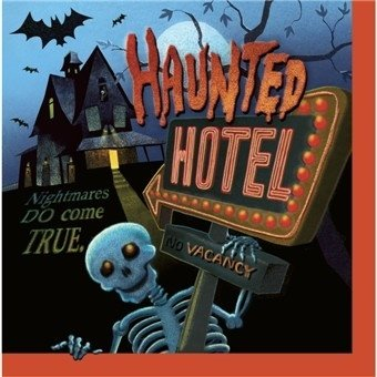 Haunted Hotel Halloween Party 16 Ct. Luncheon Dinner Napkins NEW ()