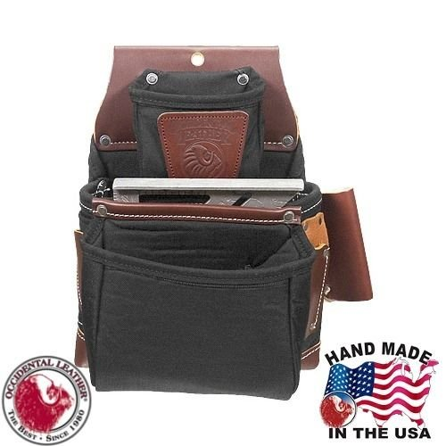 Occidental Leather B8060 Black Oxylights 3 Pouch Tool Screw Fastener Bag