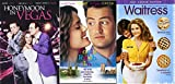 Romantic Comedy Threesome - Honeymoon in Vegas, Fools Rush in & Waitress 3-DVD Bundle