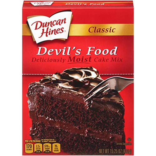 (Duncan Hines Classic Devils Food Cake Mix, 15.25 Ounce -- 12 per case. )