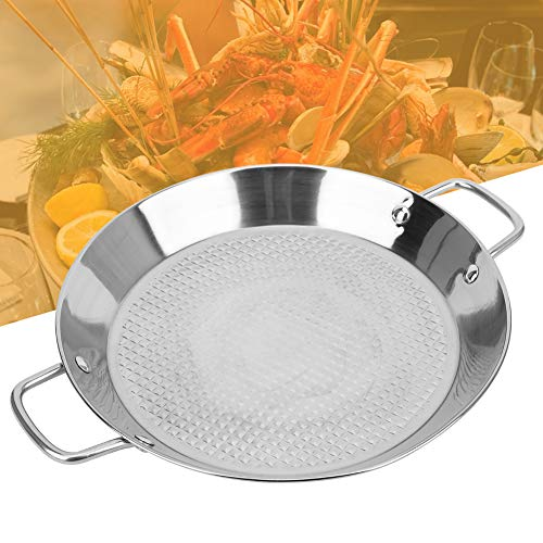 Inner Embossed Stainless Steel Pot Seafood Tray Kitchen Cookware Cooking Tool with Dual Handle Multipurpose Sauce Pan Cookware Nonstick