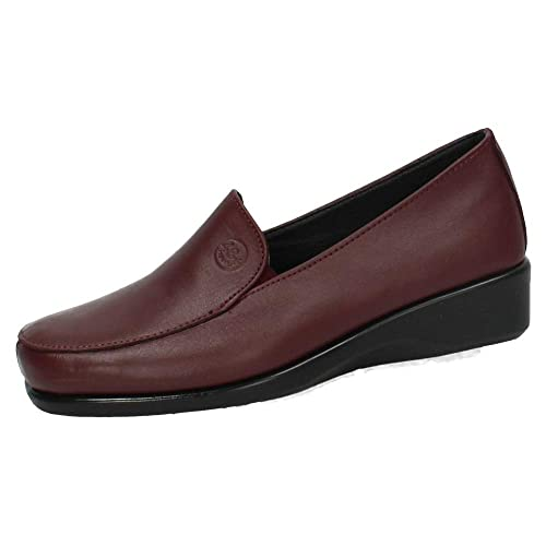 48 HORAS 820301/43 Mocasines DE Piel Mujer Zapatos MOCASÍN Burdeos 35