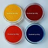 Bath Bomb Powder Colors Bath Bomb - No Ring Around the Tub 3g Jar Lake Dye Samples Red Yellow Blue Orange Fizzies