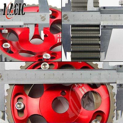 FidgetGear Adjustable Cam Gears Pulley Timing Gear for Toyota Supra 1JZ 2JZ RED 2PCS