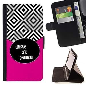Momo Phone Case / Flip Funda de Cuero Case Cover - Azulejos Negro Blanco Hermoso texto - LG Nexus 5 D820 D821