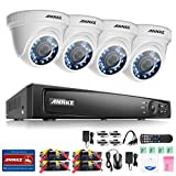 ANNKE 1080P Security Camera System 4CH HD-TVI DVR and (4) 2.0MegaPixels (1920TVL) Weatherproof Dome Cameras with Super Day Night Vision, NO HDD