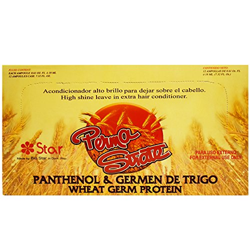 Wheat Germ Protein - Star High Shine Leave in Extra Hair Conditioner Panthenol & Wheat Germ Protein 12 Amps