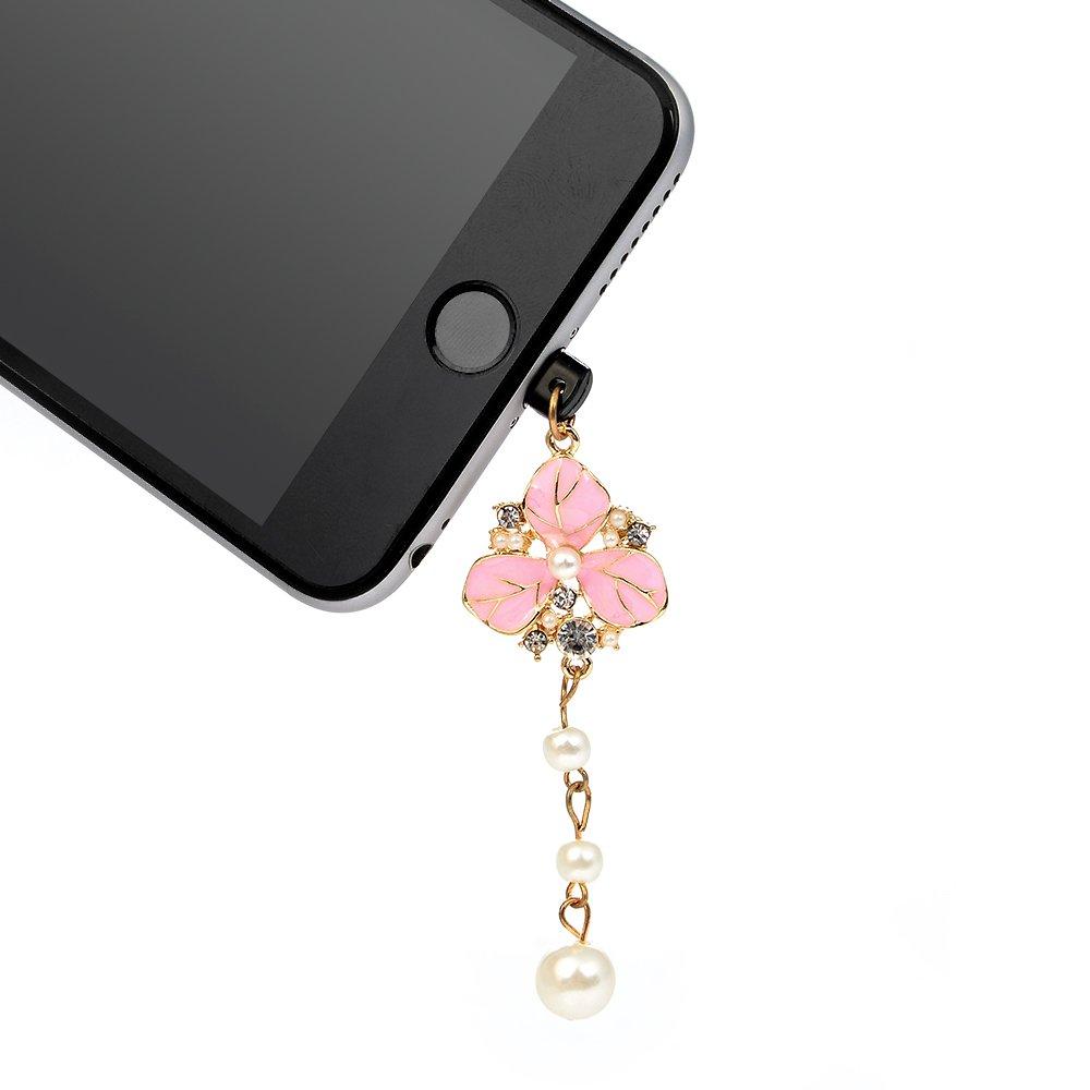 KASOS Dust Plug-Earphone Jack Accessories Bling Shiny Glitter Sparkle Diamonds Rhinestones Gems with Tassel/Cell Charms/Dust Plug/Ear Jack for iPhone Xs Max, for iPhone XR, for iPhone Xs by KASOS (Image #5)