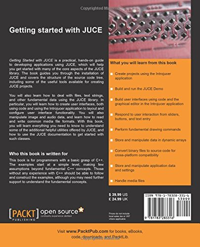 Amazon com: Getting Started with JUCE (9781783283316