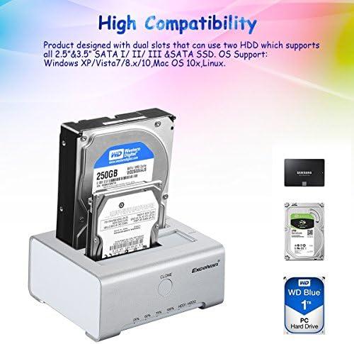 Excelvan Usb 3 0 Externes Festplatten Gehäuse Für 2 5 Computer Zubehör