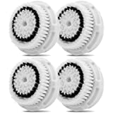 Replacement Brush Head for Sensitive Skin Cleaning. For All Skin Types, Including Sensitive and Combination Skin. Works on Face and Body. Compatible with Clarisonic MIA, MIA 2, ARIA, PRO and PLUS Cleansing Systems. (4-Pack Sensitive Brush Head)