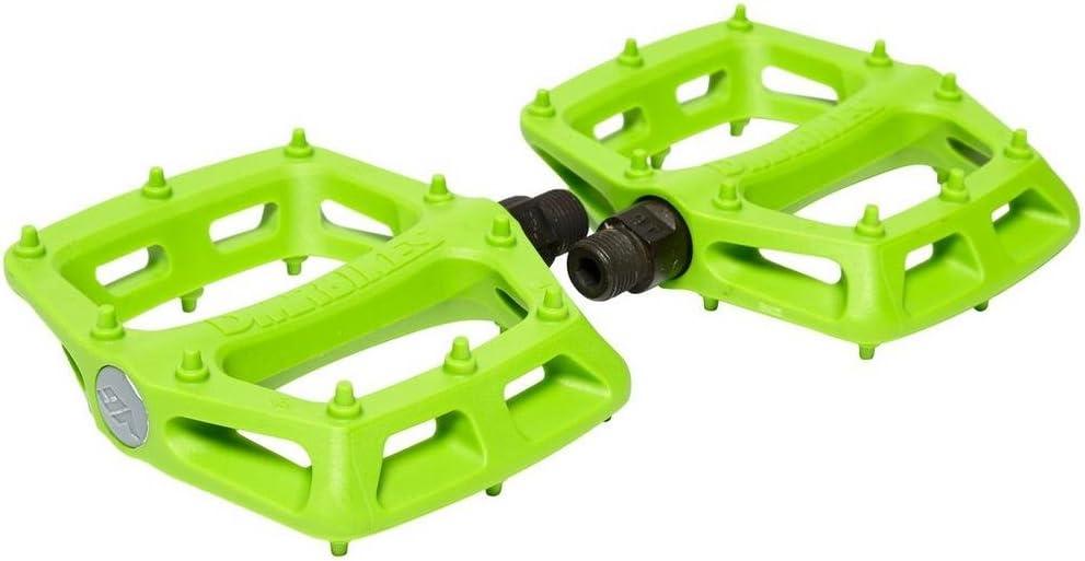 """9//16/"""" Plastic Platform Green DMR V-6 Pedals"""