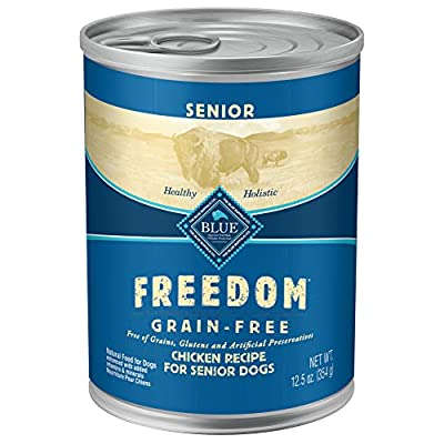 Blue Freedom Natural Grain Free Wet Dog Food Senior Chicken Recipe