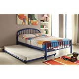 Acme Furniture 30460T-BU Cailyn Bed, Twin, Blue